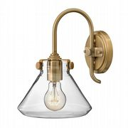 Congress Wall Light in Brushed Caramel with a Clear Glass Shade - HINKLEY HK/CONGRES1/A BC